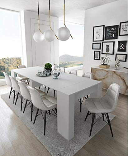 Home Innovation - Tavolo Consolle per sala da pranzo e soggiorno, rettangolare, allungabile fino a...