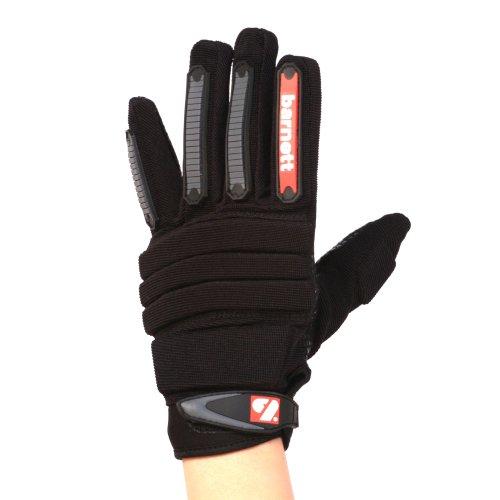 FLG-02 paio di guanti da football americano da lineman nuovo fit, NERI (S)