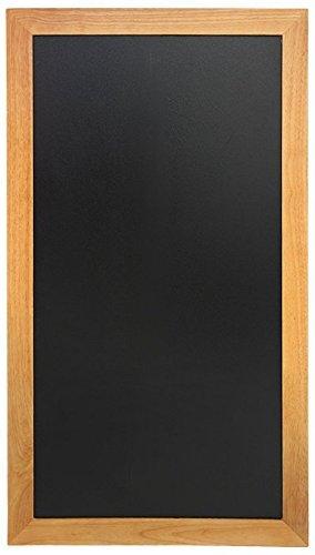 Securit - Lavagna lunga per gesso da parete con finitura laccata e cornice in legno di teak, 56 x...