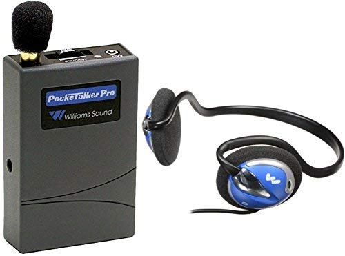 Williams Sound Williams Sound PKT PRO1-H26 Pocketalker PRO System Amplifier with HED 026 Rear-Wear Mono Headphones, 100 Hours of Battery Life, Adjustable Volume Control/Internal Tone Control