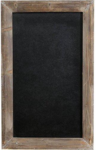Lavagna da parete verticale/orizzontale con cornice in legno finitura legno anticato 50x3x80 cm