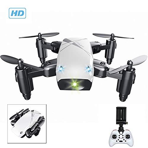 Creator-Z Drone con 300.000 Pixel, Mini Drone 2.4Ghz, Giroscopio A 6 Assi Serie 4 Canali, Funzionamento A Un Pulsante, Mini Pieghevole, La Scelta Migliore per Bambini E Principianti, Blu,Bianca