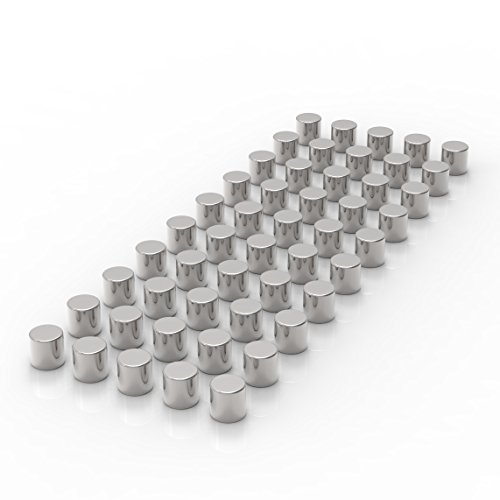 LeTOMA 50 starke Neodym Magnete D4x4 mm N45 - Ideal für Fotoseile und als Kühlschrankmagnete