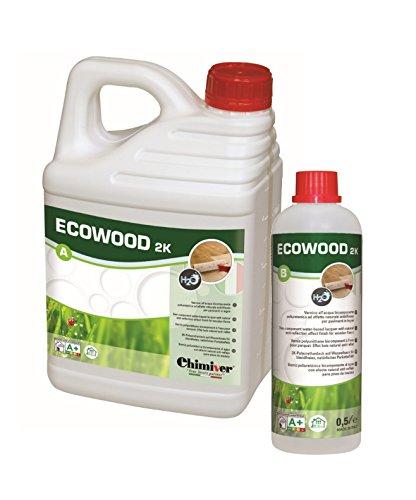 Chimiver - ECOWOOD 2K (A+B) | Vernice poliuretanica bicomponente all'acqua ad effetto naturale...