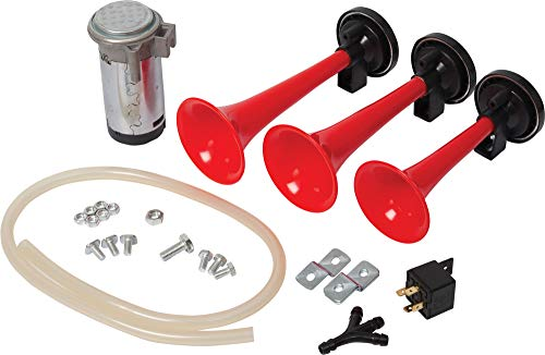 Iron Clutch 3 Pipe Musical Style Air Pressure Horns for All Cars/Bikes/Bus/Truck (12V)