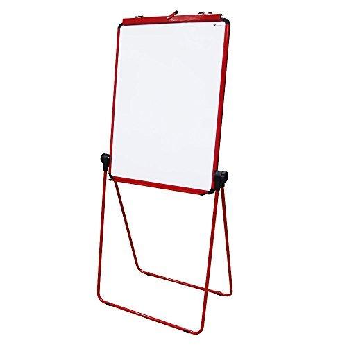 VIZ-PRO Rosso Lavagna Magnetica Double Face, Cornice in Alluminio, 70 x 90 cm