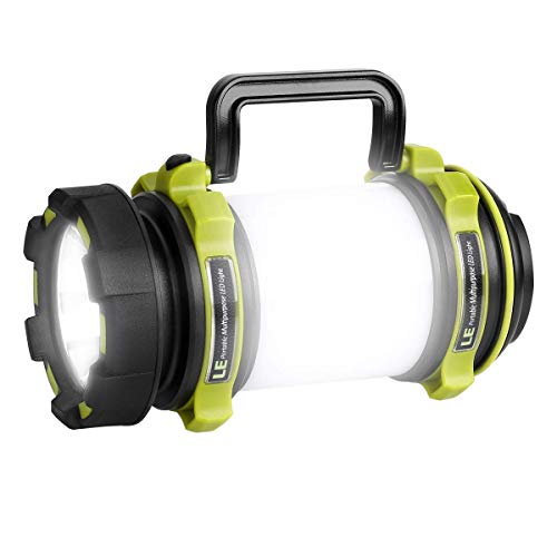 LE Torcia-Lanterna LED 2 in 1, 500 lumen Ricaricabile Portatile Luci Frontali e Laterali 4 Modalità...