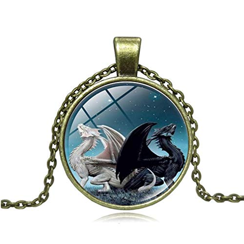 Vektenxi-Premium-Quality-Golden-Exquisite-Dragon-Necklace-Glass-Ball-Pendant-Clavicle-Chain-Gifts