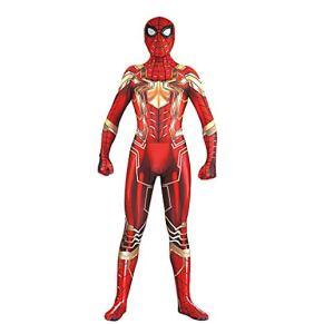 GanSouy Disfraz de Spiderman, Disfraz oficial de la película de Marvel Infinity War Iron Spider Deluxe, Tamaño estándar…