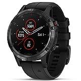 Fenix 5 Plus, Sapphire, Black W/Blk Band, GPS Watch, EMEA
