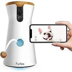 Furbo - Videocamera per Cani : Lancio di Croccantini, Telecamera HD WiFi per Animali e Audio Bidirezionale