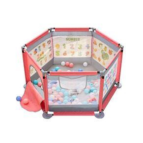 WHYDIANPU Valla de Juegos para niños ▏ Valla Protectora Anti-caída para bebés Mat Alfombra de Seguridad para niños pequeños (Color : Rosado, Tamaño : No Padding)