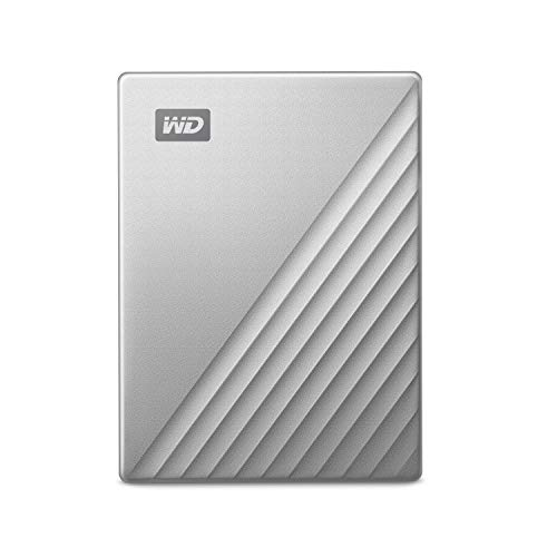 Western Digital 4 TB Unità Portatile My Passport Ultra for Mac, Pronto per USB-C, Argento