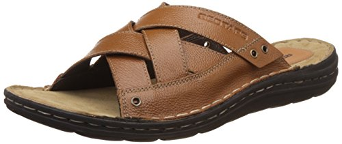 Red Tape Men's Tan Leather Sandals and Floaters - 8 UK/India (42 EU)
