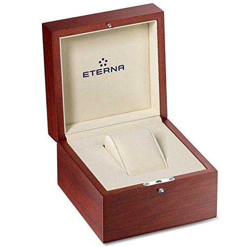 Eterna Adventic Automatik Uhr, Eterna 3914A, Crocodileband, Silber - 2