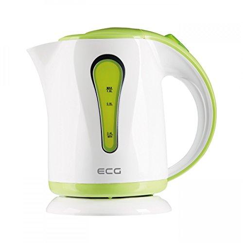 ECG RK 1022 Green, Wasserkocher, 1 Liter, Grün-weiß, Plastik