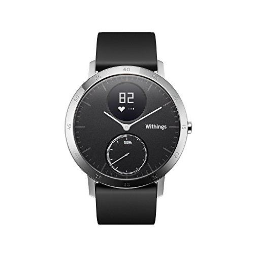 Withings Steel HR - Reloj de seguimiento de la actividad con monitorización de la frecuencia cardíaca, tamaño 40 mm, color negro