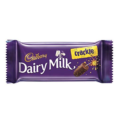 Cadbury Dairy Milk Crackle Chocolate Bar, 36g (Pack of 10)