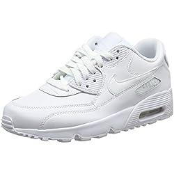 Nike Air MAX 90 Leather, Zapatillas para Niños, Blanco White 100, 40 EU