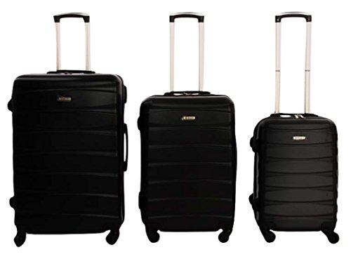 Dublin 2 set da 3 pezzi valige trolly in ABS e policarbonato con 4 ruote girevoli 360° gradi colori...