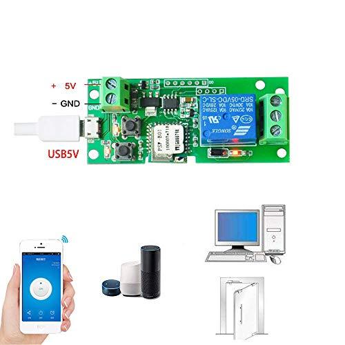 Sonoff Inching/Autobloccante Wi-Fi Senza Fili Smart Switch Modulo relè DC 5V per Smart Home per Apple per Android App Controllo (1ch dc5c/5v)
