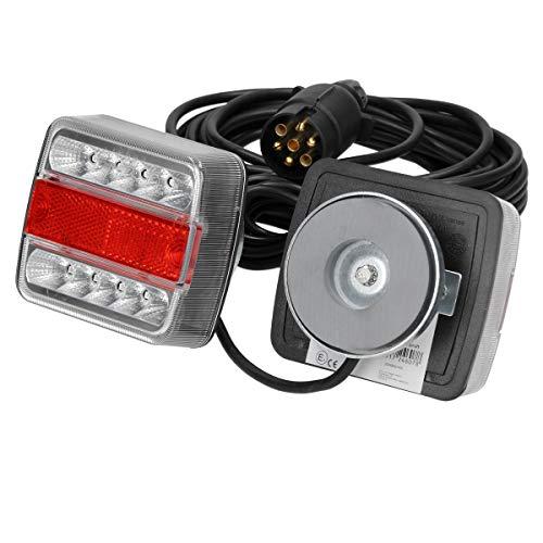ECD Germany Kit Illuminazione a LED per Rimorchio Luci Posteriori a LED per Rimorchio 12V - Cablato...