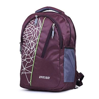 INDIAN STYLISH 26Ltrs Polyester Purple College and School Bags 31