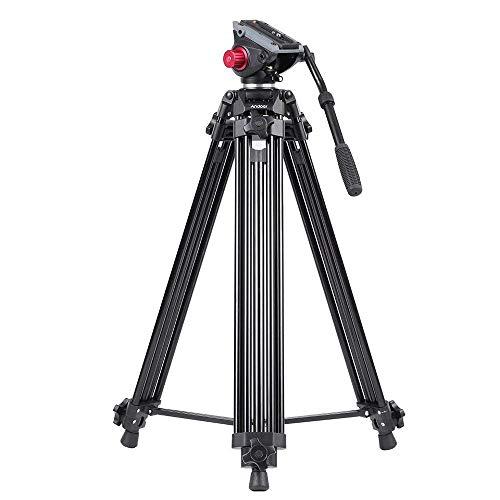 Andoer Cavalletto Fotografico Treppiede Professionale Videocamera in Lega di Alluminio per Canon...