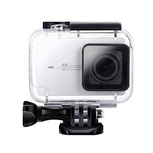 Eyeon 45M Underwater Custodia Impermeabile Custodia Subacquea Custodia Protettiva Dive Case di Nuoto per Xiaomi Yi 4K 4K + / Yi Discovery / Yi 4K Lite Action Camera Accessori Acqua