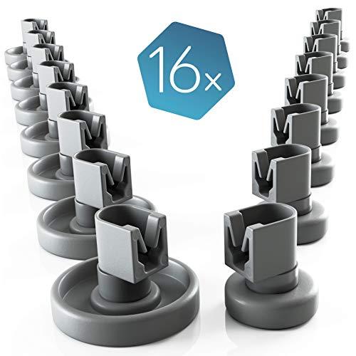 Set di rotelle lavastoviglie cestello Plemont [cesto superiore / inferiore] - rotelle lavastoviglie...