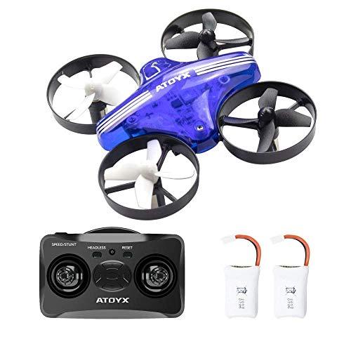 ATOYX AT-66 RC Mini Drone con Telecomando Funzione di Sospensione Altitudine modalità Headless 3 velocità 3D Flip Protezioni a 360°per Bambini e Principianti (Blu)