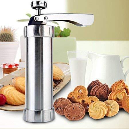 Nirvisha Steel Biscuit Maker Cookie Press Machine Kit Cake Decorating Gun Kitchen Tools Set