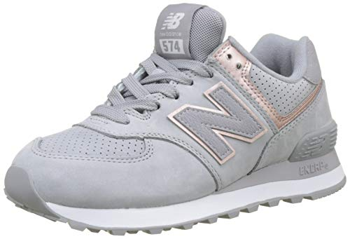New Balance WL574NBN 574 Nubuck Sneaker Grau
