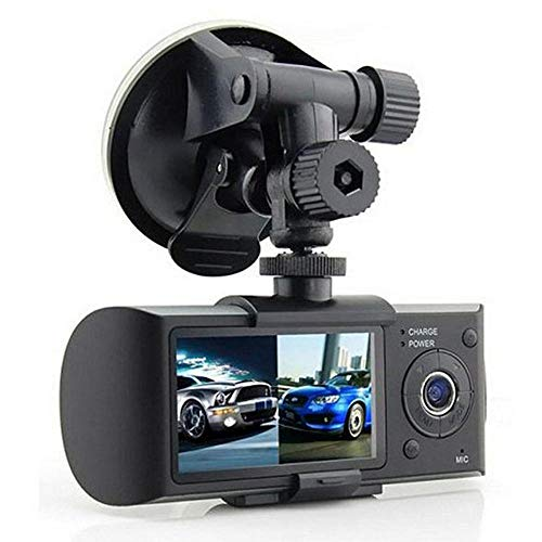 OOOUSE Dual Dash Cam, 1080P FHD DVR Car Driving Recorder Dashboard Camera 2.7 Inch LCD Screen 140 Degree Wide Angle, G-Sensor, Loop Recording