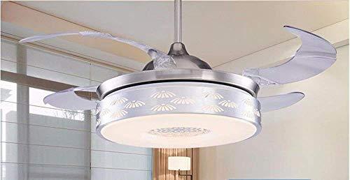 JFFFFWI Modern Fan Chandelier, Ventilatore a soffitto con Luce con Soggiorno Invisibile Camera da...