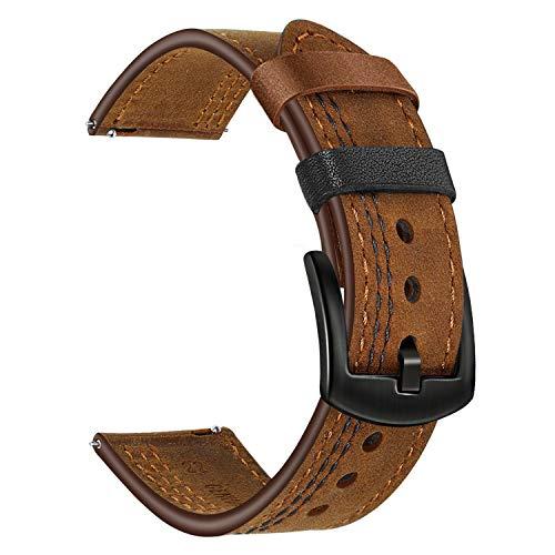 TRUMiRR per Cinturino Orologio Samsung Galaxy Watch 46mm, 22mm Doppio Colore Cinturino in Vera Pelle Cinturino a sgancio rapido per Gear S3 Classic/Frontier