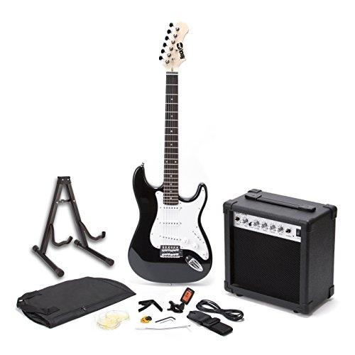 RockJam RJEG01-SK-BK Kit per Chitarra Elettrica