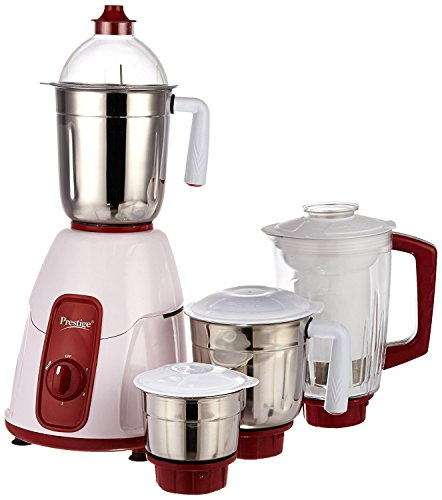 Prestige Elegant 750 Watt Mixer Grinder with 3 Stainless Steel Jar & 1 Juice extractor Jar