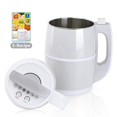 Aigostar Beanbaby 30IMW - SOY MILK Maker/Soup maker cuoci e frulla, incluso ricettario PDF....