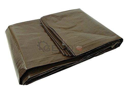 Geko G70764 - Lona de polietileno (10 x 12 m), color marrón