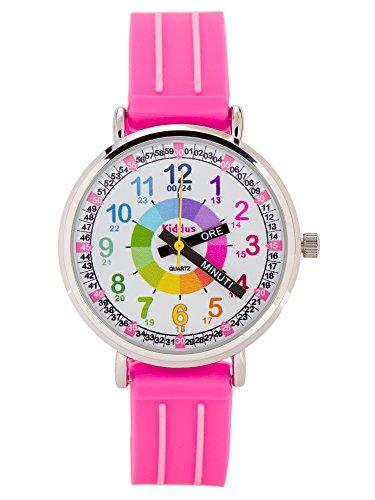 Orologio per bambine/ragazze, aiuta a IMPARARE A LEGGERE L'ORA, in confezione regalo, CON...