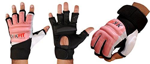 Pelle KWIK FIT Rosa di arti marziali di formazione GEL Guanti MMA Boxing Punch Bag Grande
