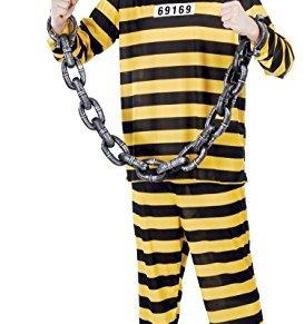 Guirca- Disfraz adulto prisionero, Talla 48-50 (80420.0)