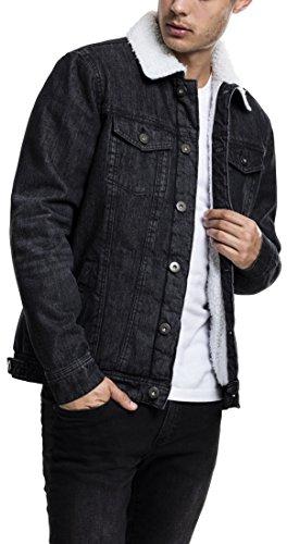 Urban Classics TB1796 Herren und Jungen Sherpa Denim Jacket,...