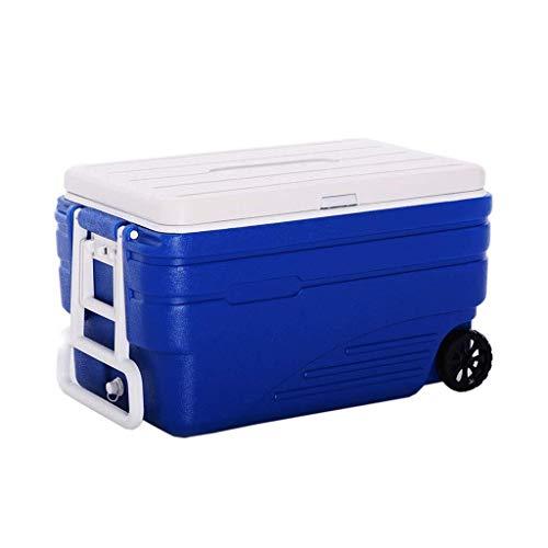 Whhyynb Scatola frigo, Frigorifero/congelatore Portatile con Ruote da 100 Litri for Auto e casa con...