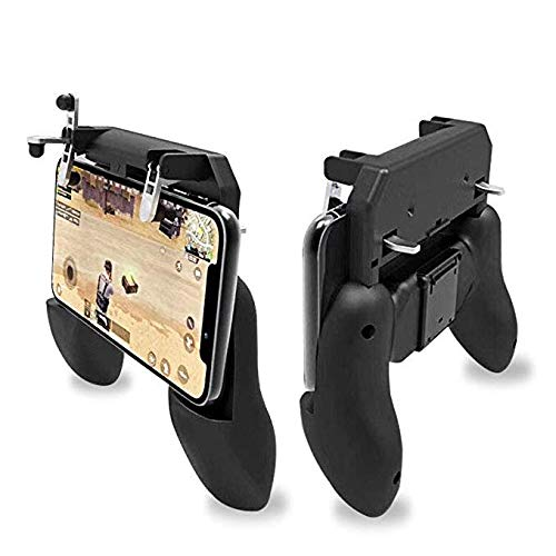 TurnVoltTM L1 R1 Dual Gamepad Trigger with Fire Shooter Controller Button Aim Key Mobile Gaming Joystick Console for PUBG/Knives Out/Rules of Survival for All Smartphones -Black