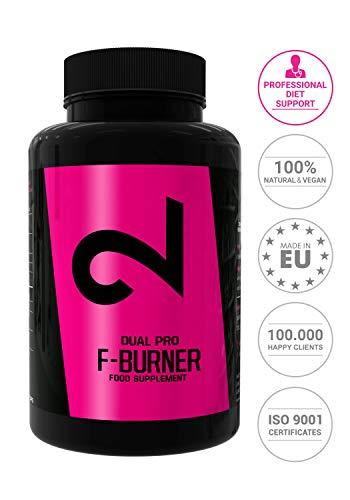 Dual Pro F-burner | Pillole Brucia Grassi Per Uomini E Donne | 100 Capsule Vegane | Perdita Di Peso...