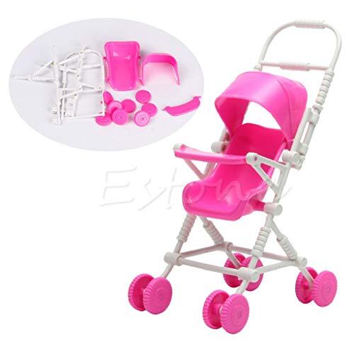 Vivianu - Passeggino rosa da babysitter per giocattoli, Barbie e bambole, l'accessorio preferito delle bambine