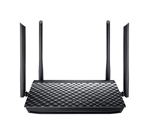 ASUS RT-AC1200G+ - Router inalámbrico AC1200 Doble Banda Gigabit (USB 2.0, modo punto de acceso, triple VLAN, compatible con DD-WRT)
