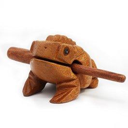 Aussel Guiro Rana Rilevatore di legno con il maglio, Strumento musicale Suono Block, Fiera Strumento